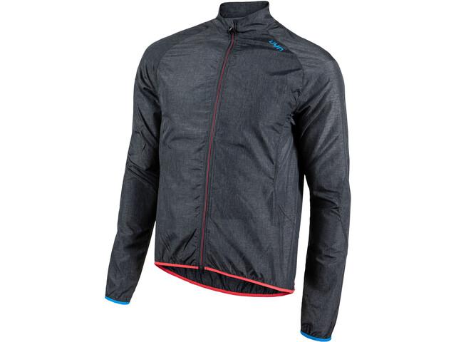 UYN Biking Activyon OW Melange Wind Jacket Men, anthracite melange/indigo bunting/hibiscus